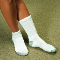 Silver Knit Mini-Crew Sock Pair White (Women Small 5 - 7)