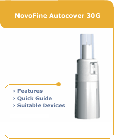Novofine Autocover 30 gauge Disposable Safety Needle (100)